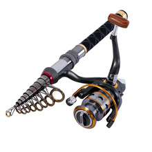 1.3m-2.4m Stick Fishing Rod de Carbon Fiber Fishing Rod for Fish Olta Spinning Telescopic Mini Fishing Rod Set with Reel Pole