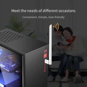 Image 3 - Adaptador USB Wifi 650Mbps Dongle Receptor Sem Fio Placa de Rede Ethernet 6dBi Antena para Windows XP/7/8 /8.1/Mac 1 OS10.6 10.15