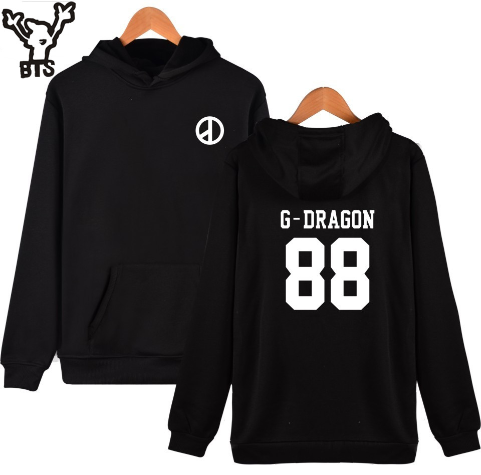 BTS G-dragon Hooded Hoodies Women Winter Cotton Pullovers Korean Kpop Bigbing Sweatshirt Women Hoodies Hip Hop Female Top Clothe