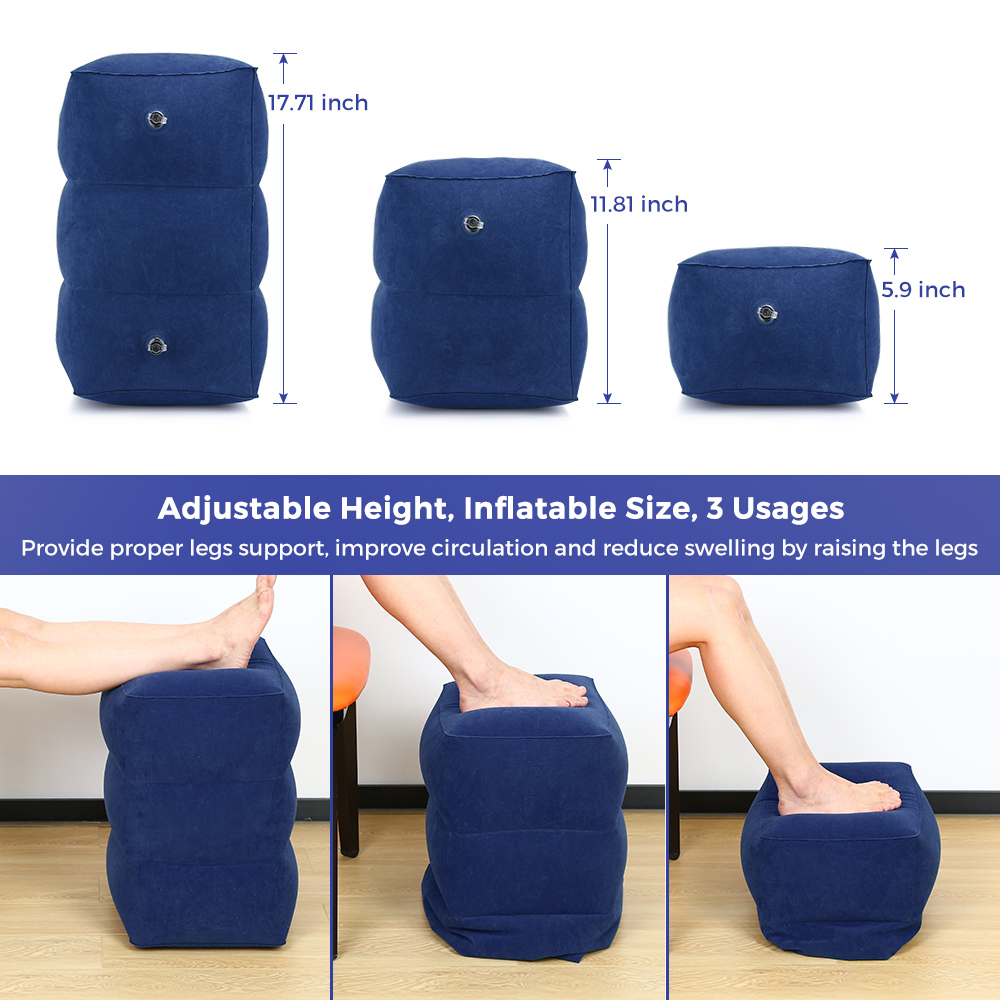 Astonishing Us 12 59 10 Off Hm021 Travel Inflatable Adjustable Height Foot Rest Pillow For Kids Adult Portable And Lightweight High Quality Material Pillow In Caraccident5 Cool Chair Designs And Ideas Caraccident5Info