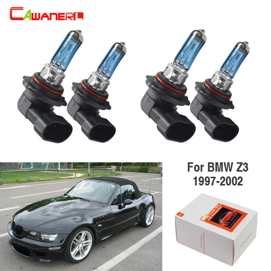 medium resolution of cawanerl 4 pieces 100w halogen bulb 4300k 12v car light source headlight high low beam for