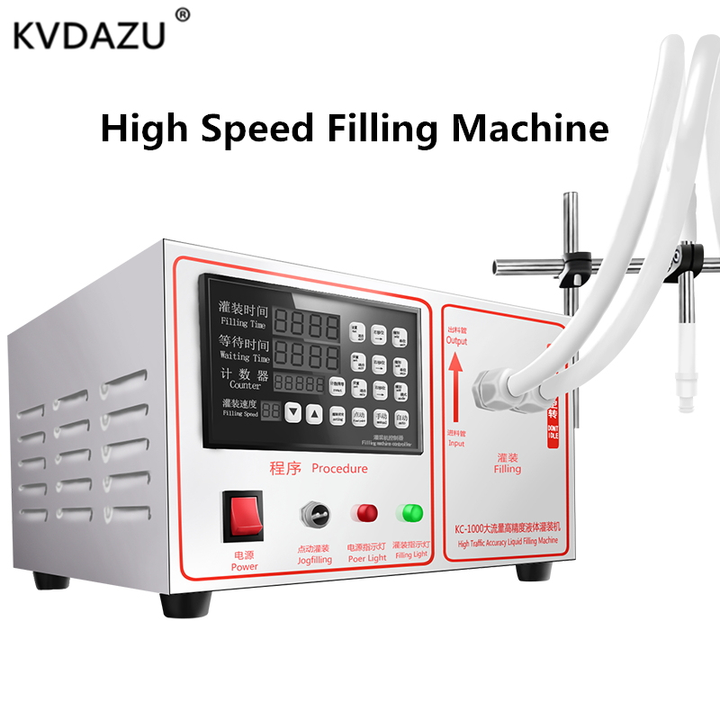 High speed Liquid Filling Machine Digital Control Pump Electric perfume Juice Liquor Water drink milk bottle automatic filler
