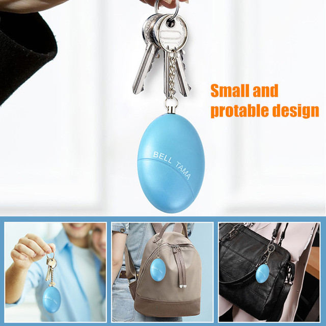 Fuers 1pcs 120DB Keychain Alarm Self Defense Women Security Personal Safety Scream Loud Self Defense Keychain Alarm Self Defence 4