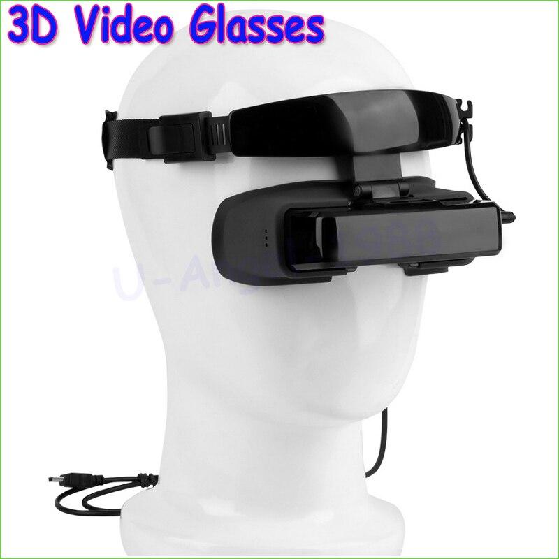 Wholesale 1pcs FPV <font><b>Video</b></font> <font><b>Glasses</b></font> <font><b>80</b></font> <font><b>inch</b></font> <font><b>Widescreen</b></font> <font><b>Virtual</b></font> <font><b>Display</b></font> 3D <font><b>Video</b></font> <font><b>Glasses</b></font> Goggle 430 * 240 for rc fpv Photography