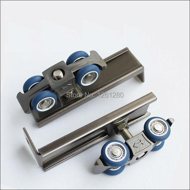 free shipping slide furniture hardware roller sliding door hanging pulley sliding track roller