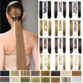 "22"" Synthetic Hair Tail Long Straight Ponytail Clip in Ribbon Ponytail Pony Tail Hair Extension Hairpiece False Hair Tail"