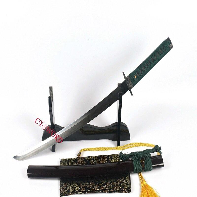 Boja spremna za bitku Kaljeni T-10 čelik Japanski mač Wakizashi - Kućni dekor - Foto 2