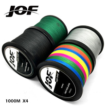 JOF Brand fishing line 1000M PE Multifilament Braided Fish Line 4 Strands 10lb-80lb Carp Fishing Rope Cord fishing tackle