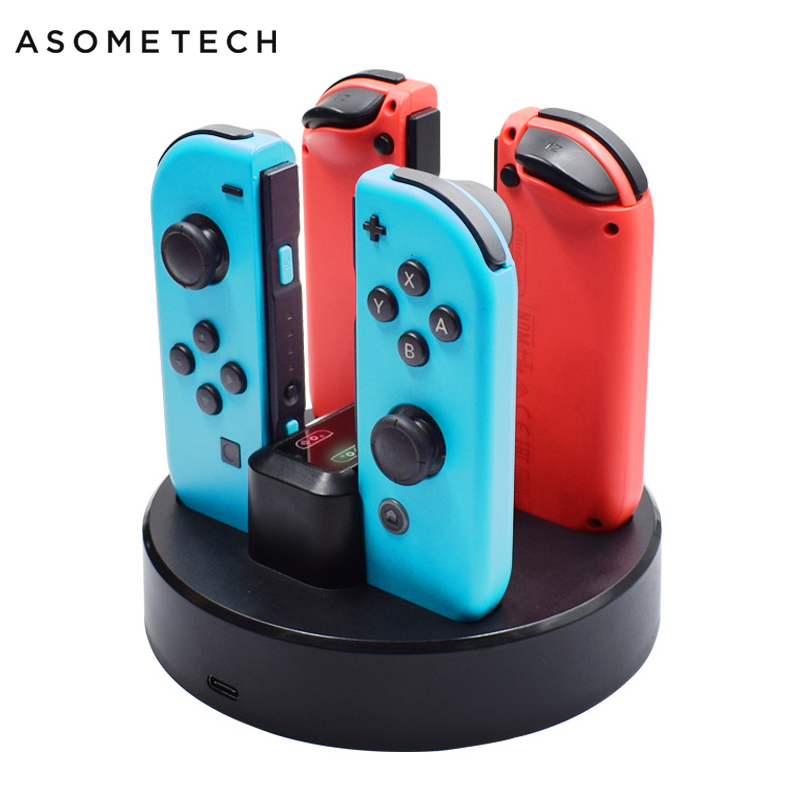 4in1 Charging Dock For Nintendo Switch Joy-con Controller Stand Charger Station For N-Switch Joycon Charger For Nintend Switch