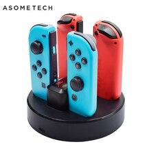4in1 Sạc Cho Máy Nintendo Switch Joy Con Bộ Điều Khiển Chân Đế Sạc Ga Cho N Công Tắc Joycon Sạc Dành Cho nintend Công Tắc
