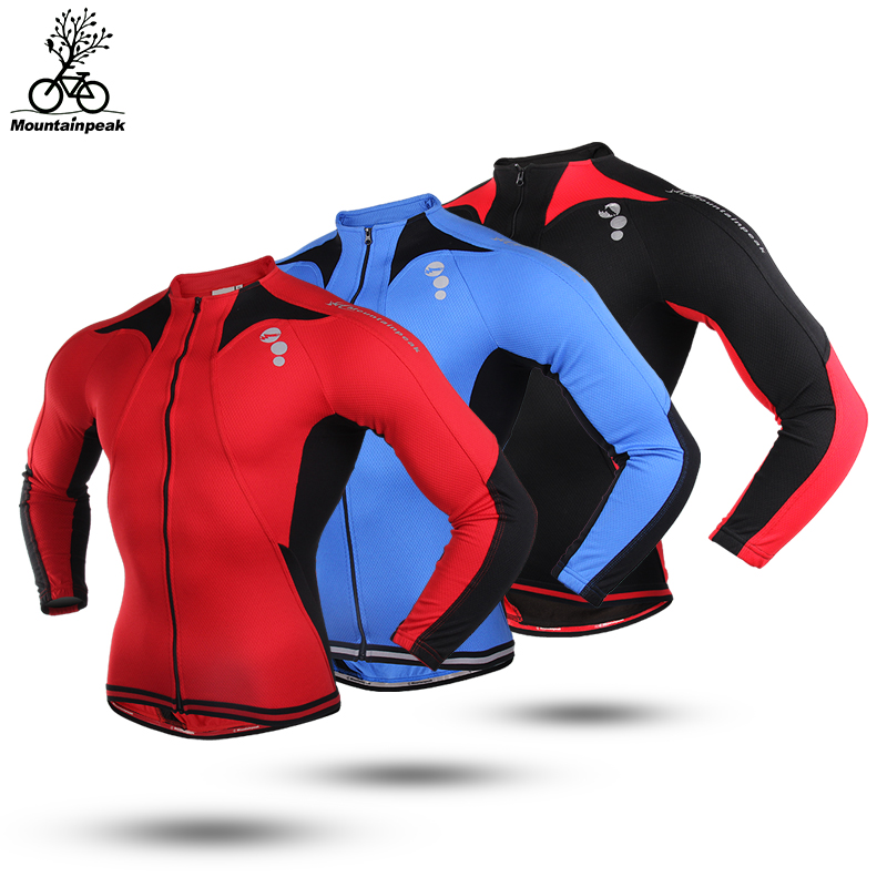 Mountainpeak Autumn and Winter Riding Clothes Men and Women Long Sleeved Thin Fleece Jacket Thermal Jacket cycling jacket