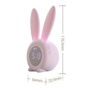 Image 5 - นาฬิกาปลุก Creative น่ารักกระต่ายนาฬิกาปลุก LED Digital Snooze การ์ตูนนาฬิกาอิเล็กทรอนิกส์สำหรับห้องรับแขก Home Supplies