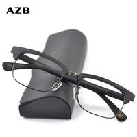 AZB Eyewear Frame Prescription Eyeglasses Man Glasses Optical Frames Recipe Wood Metal Square Glasses Frame Clear lens Eye Glass