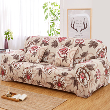 flower printed covers on the sofa elastic sofa cover universal flexible stretch couch funiture loveseat cover