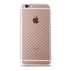 Image 2 - 5 pçs iphone 6 6s 7 8 plus 5S capa completa 3d anti impressão digital de fibra de carbono volta protetor de tela filme para iphone x xr xs 11pro max