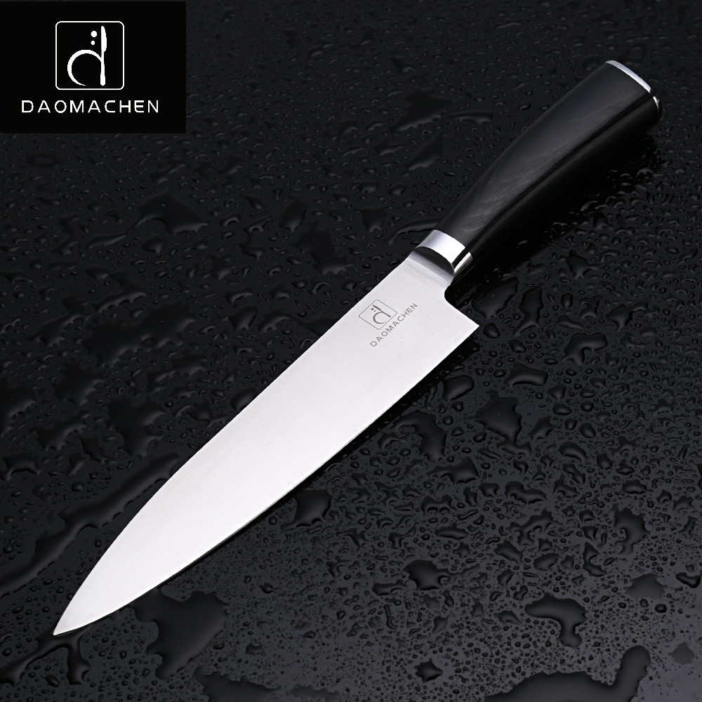 DAOMAOCHEN Chef's Knives 8 Inch High Quality Steel  Slicing Knife High Color Wood Handle Kitchen Knife With An Analysis Of Hou