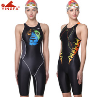 Yingfa digital printing professional training competition swimsuit female racing quick drying anti chlorine women swimwear 635