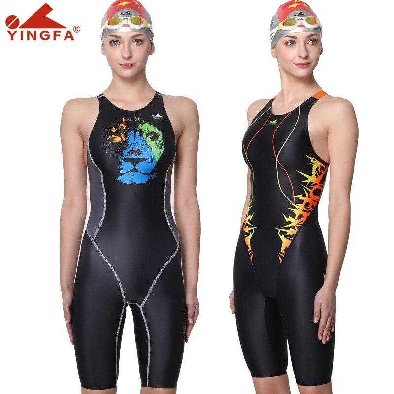 Yingfa digital printing professional training competition swimsuit female racing quick-drying anti-chlorine women swimwear 635(China)