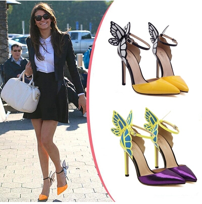 chaussures Valentine aile marque femme bout hauts pointu talons Sexy Xd0q8X