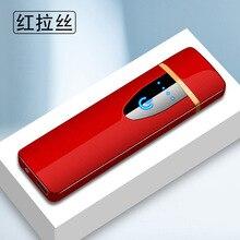 Сенсорный экран сенсор прикуриватель компактный умный датчик USB зарядка зажигалки Премиум зажигалка