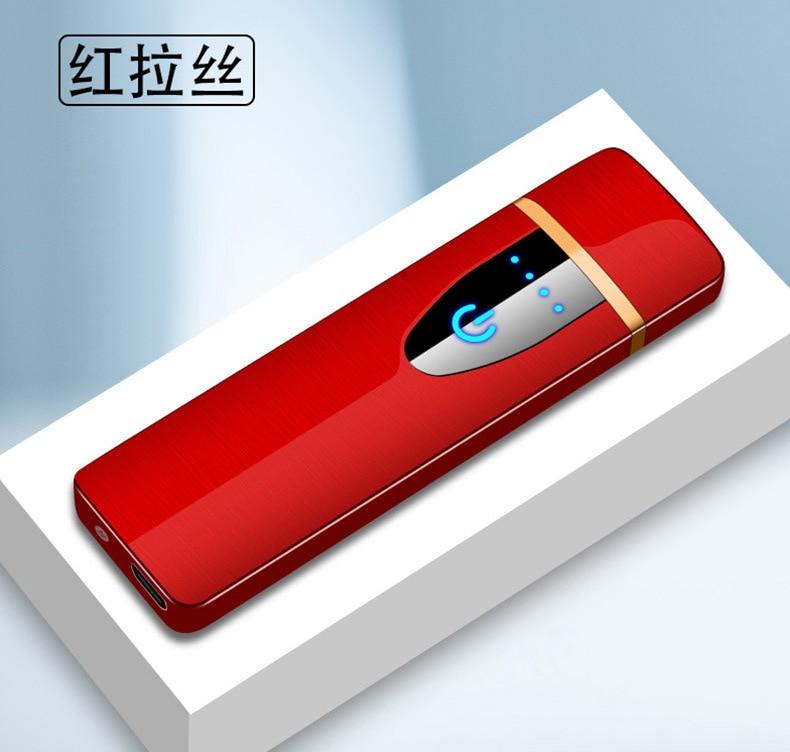 New Touch Screen Sensor Cigarette Lighter Compact Smart Sensor USB Charging Lighters Premium Lighter