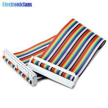 Neueste 20cm 40 PIN 40PIN Weg GPIO Regenbogen Band Kabel Für Raspberry Pi Modell B/Modell B +