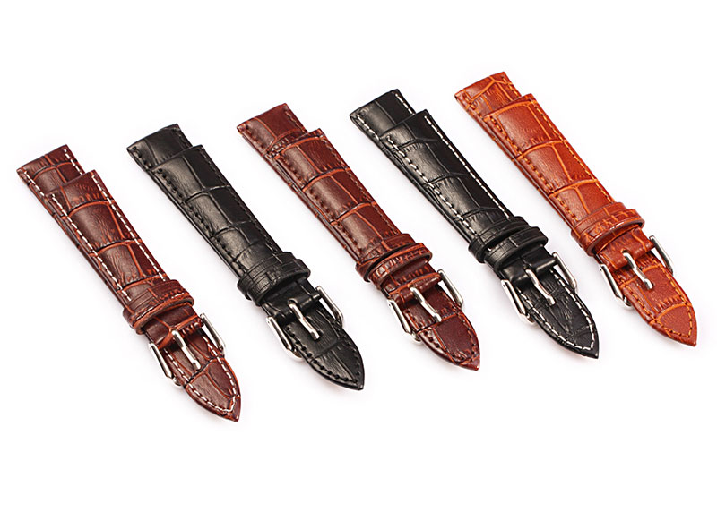Genuine leather watch band (10 mm to 24 mm)