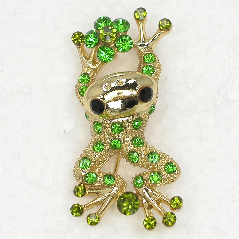 Strass Grenouille Broches broches Pendant C856 K2