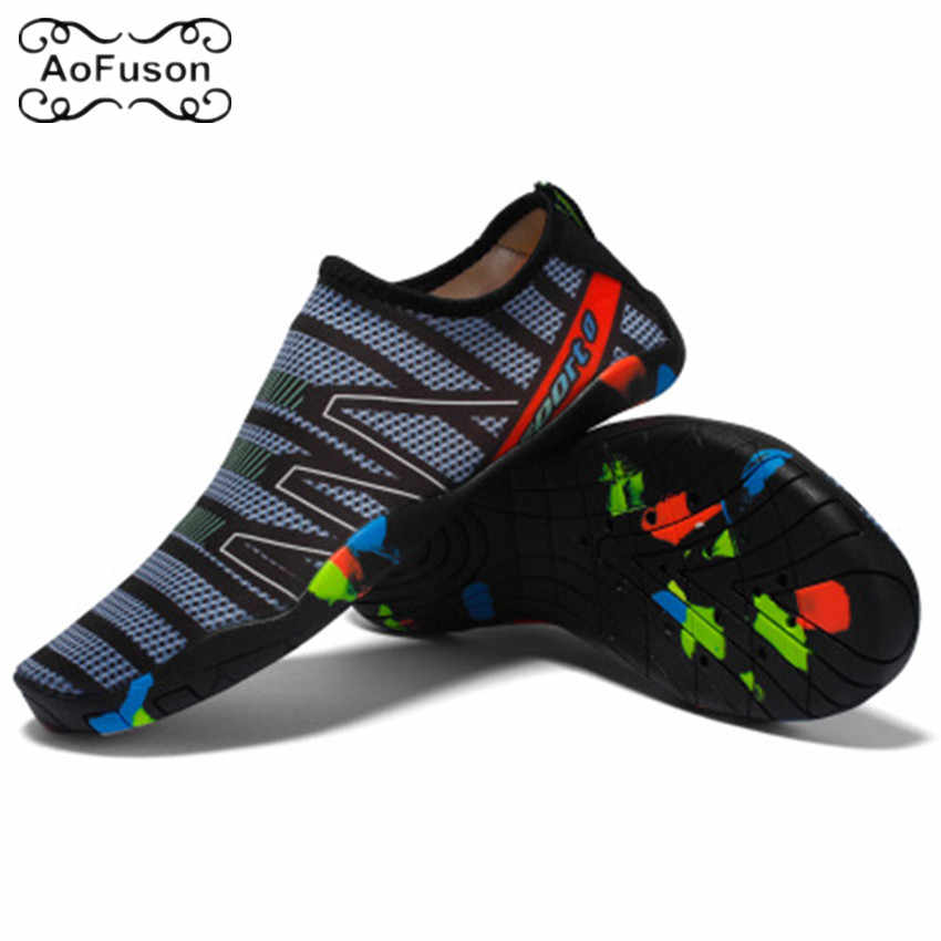 Unisex Sneakers Swimming Beach Shoes Water Sports Aqua Shoes Seaside Surf Quick-Drying Slippers Upstream Light Athletic Footwear