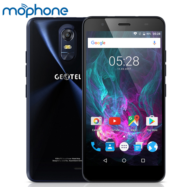 Geotel Note Smartphone 4G 5.5inch MTK6737 4xCortex-A53 3GB +16GB Android 6.0 3200mAh Battery Dual SIM GPS OTA Mobile Phone