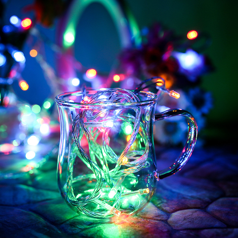 BTgeuse 80LED 33ft String Lights Battery Case Powered Fairy String Lights For Homes Christmas Tree Wedding Party Room Decoration