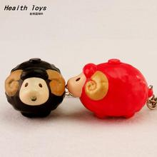 high quality Little sheep LED key chain Flashlight pendant creative gifts 6 colors mix order wholesale