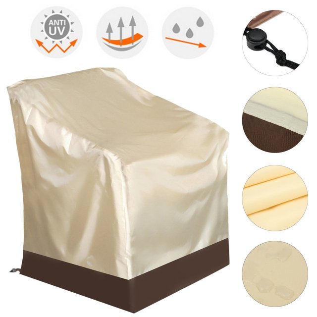 Patio Chair Cover Polyester Waterproof Single High Back Chair Covers  Outdoor Yard Furniture Protective Cover Textiles