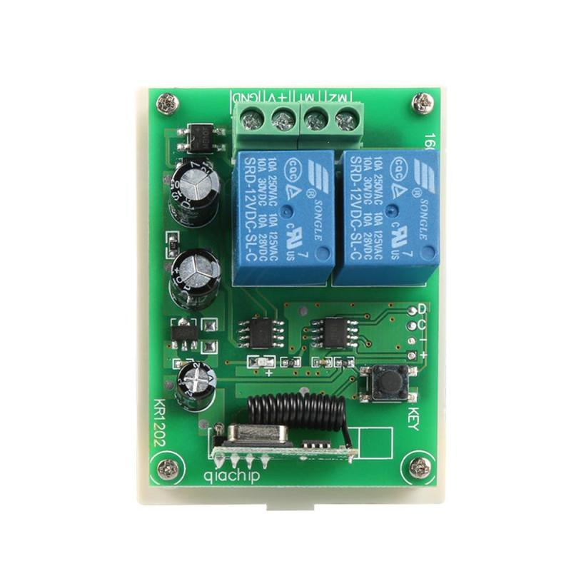 цена на QIACHIP DC 12V 2CH 433MHz Wireless Remote Control Switch RF Relay Receiver 433 MHz Button Module For Smart Home Light Switch Z2