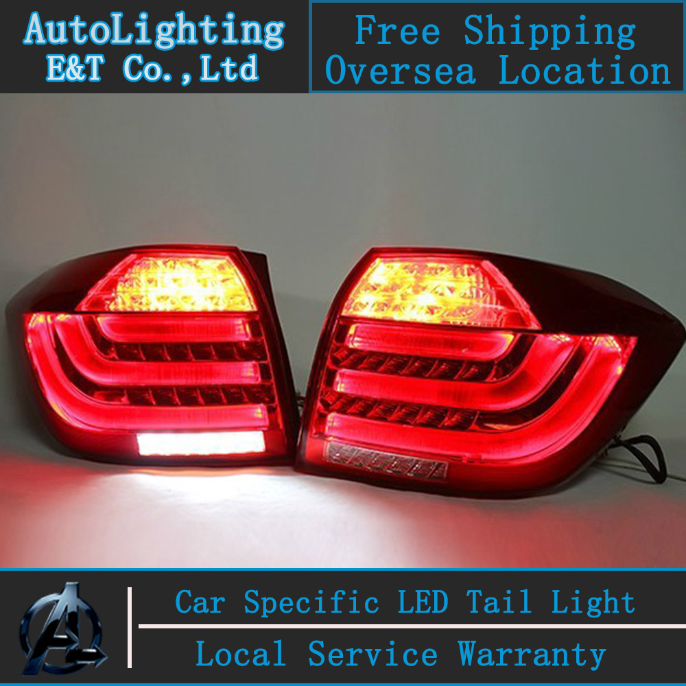 Car Styling Highlander tail lights 2012-2013 For Toyota Highlander LED Tail Lamp rear trunk lamp cover drl+signal+brake+reverse купить