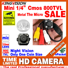 Very Small!CMOS 800TVL Mini Audio Mic HD CCTV Analog Camera Security Color Led Infrared Night Vision Surveillance Video LowPrice
