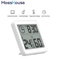3.2 pulgadas de Pantalla grande Automático de Múltiples Funciones Reloj Electrónico de Temperatura y Humedad