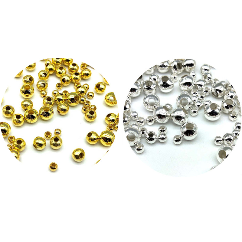 200/130/60/50pcs 3/4/5/6mm Cheap Beads Fashion Accessories Gold Silver Plated Alloy Space Loose Beads Diy Accessories Wholesale Do You Want To Buy Some Chinese Native Produce? Jewelry & Accessories Beads