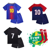 Himipopo 17 18 New Children Soccer Sets Breathable Polyester Boys Sports T Shirts Pant Kids Football