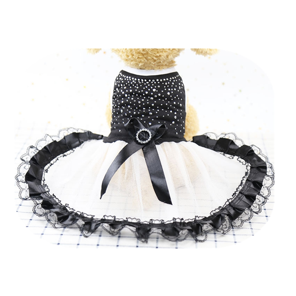 2018 New Dress Princess Tutu Dog Dresses Pretty Dog Party Costume With Bowknot Ribbon Sizes XL Pet Supplier for Teddy Chihuahua