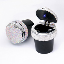 1 Piece New Style Car Ashtray Creative Diamond Decorative With LED Light Detachable Easy to Clean