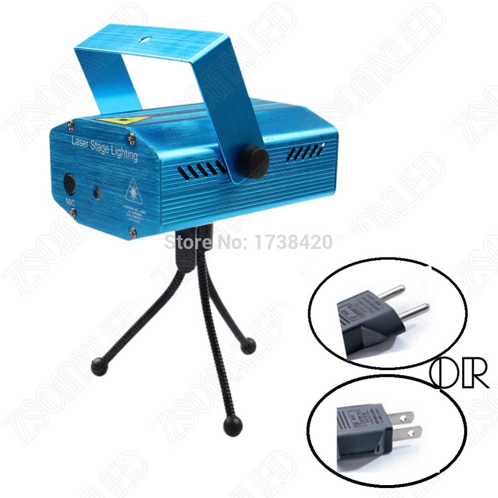 Portable voice music control led stage lighting effect for Best portable laser projector