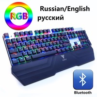 Wireless Bluetooth Gaming Mechanical Keyboard RGB Backlit LED Anti Ghosting Teclado For Gamer PC Phone Ipad