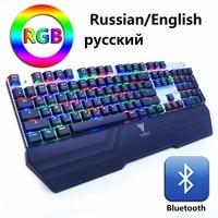 Wireless Bluetooth Gaming Mechanical Keyboard RGB Backlit LED Anti Ghosting Teclado For Gamer PC Phone Ipad