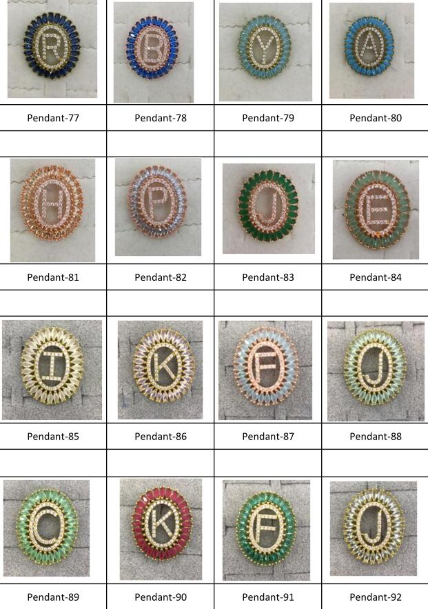 Mandala De Letra Collar Navette Zirconia Jewelry Initial Alphabet A-Z Letter Pendant Necklace Brazil Joyeria for Women (3)