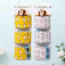 Storage bag hanging wall door bed dormitory storage artifact cute sundries