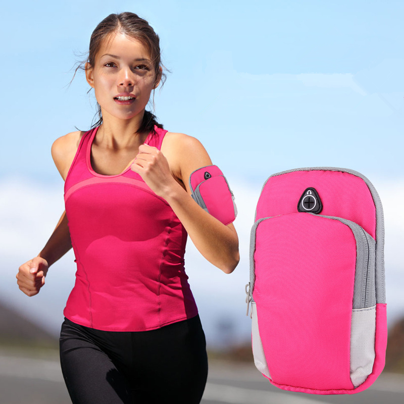 Running Bag Jogging Gym Armband Arm Band Holder Bags For Mobile Phones Less 6 Inch Keys Pack With Headset Hole Running Arm Bags To Produce An Effect Toward Clear Vision Relojes Y Joyas