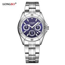 LONGBO 2020 Woman Watches Rose Gold Top Brand Luxury Watch Women Quartz Waterproof Women's Wristwatch Ladies Girls Watch Clock(China)