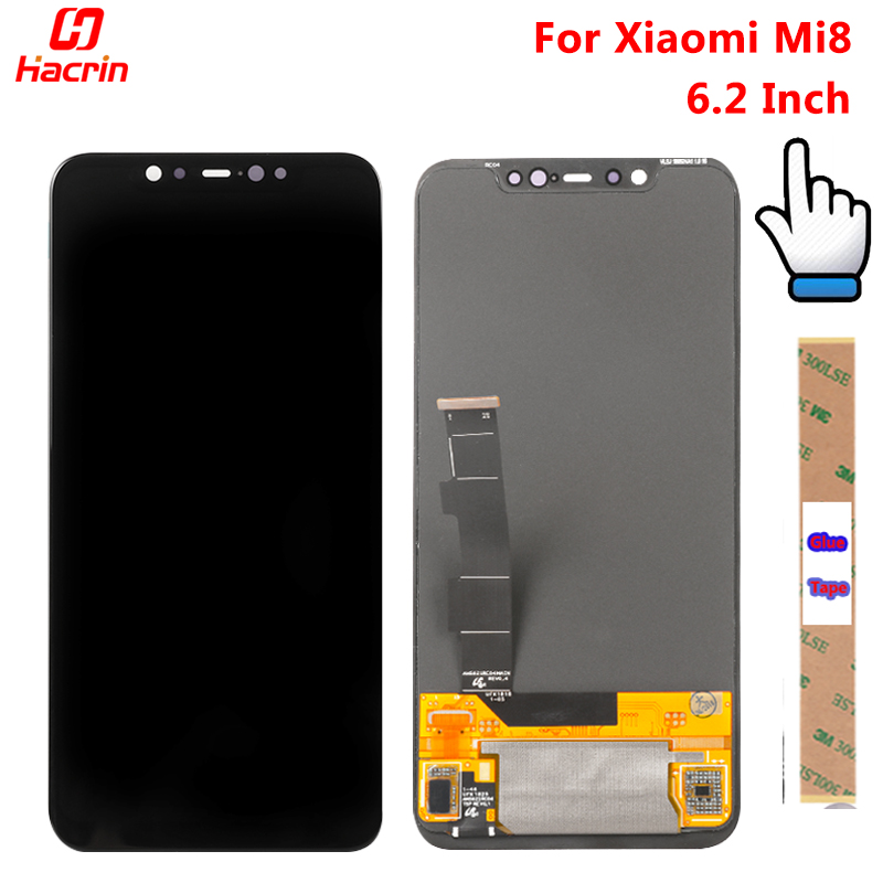 Для Сяо mi 8 ЖК Дисплей + Сенсорный экран 6,2 дюйма новая сборка дигитайзер замена аксессуар Экран Дисплей Для Сяо mi 8 mi 8