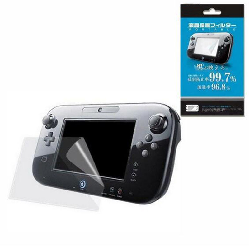 Clear Protective Film Joypad Surface Guard Cover for Nintendo Wii U font b Gamepad b font